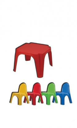 set table and high chair online - Price: 45.00 €