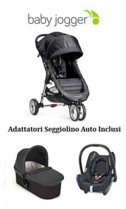 trio baby jogger city mini 3 - deluxe - cabriofix charcoal/denim online - Price: 879.00 €