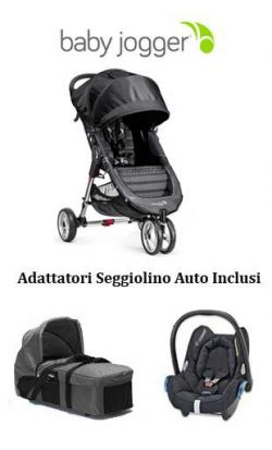 trio baby jogger city mini 3 - compact - cabriofix charcoal/denim online - Price: 749.00 €